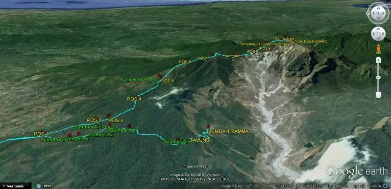 Google Earth Gunung Bawakaraeng