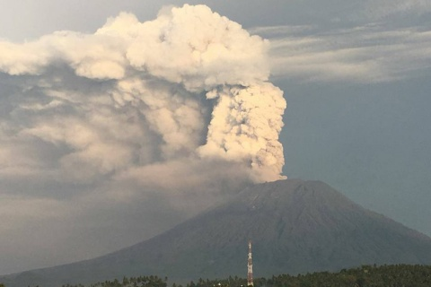 Gunung Agung : Photo PVMBG Karangasem