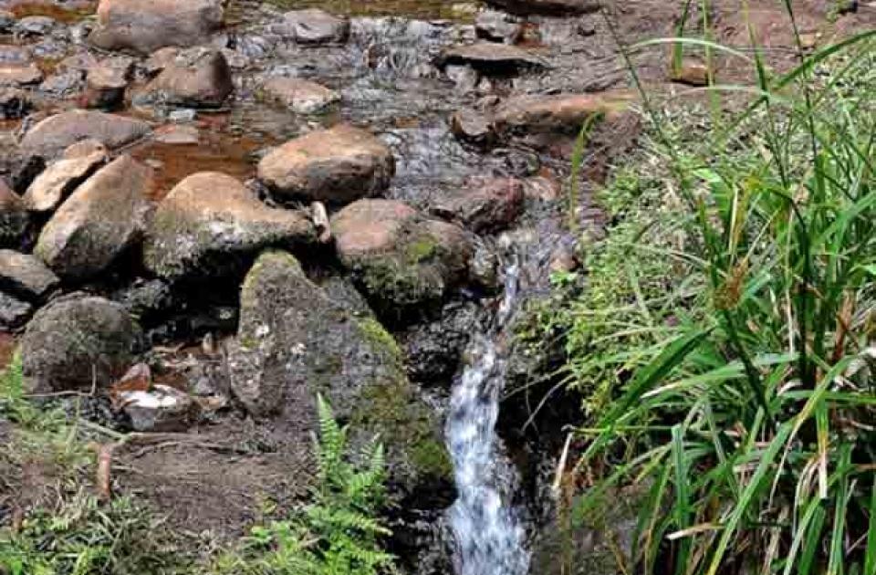 Sumber air di pos 2 gunung Bawakaraeng
