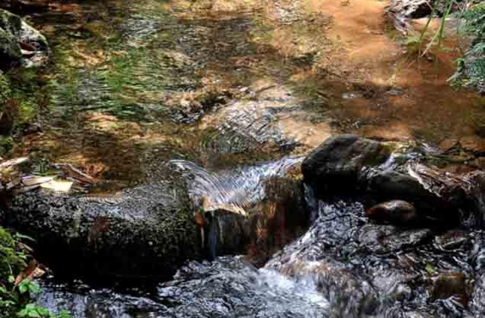 Sumber air di pos 3 gunung Bawakaraeng