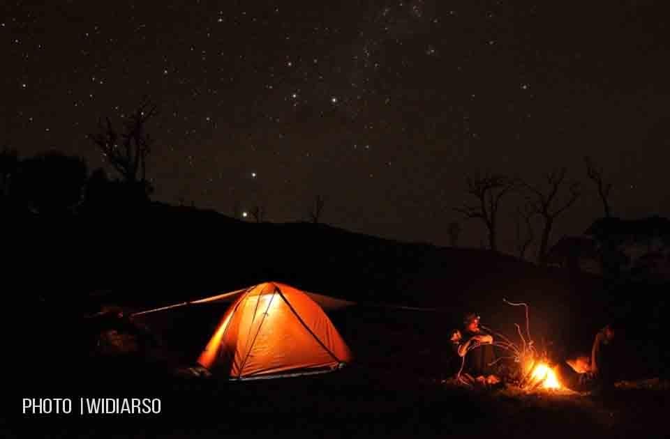 Kondisi malam hari di Pos 5 gunung Bawakaraeng