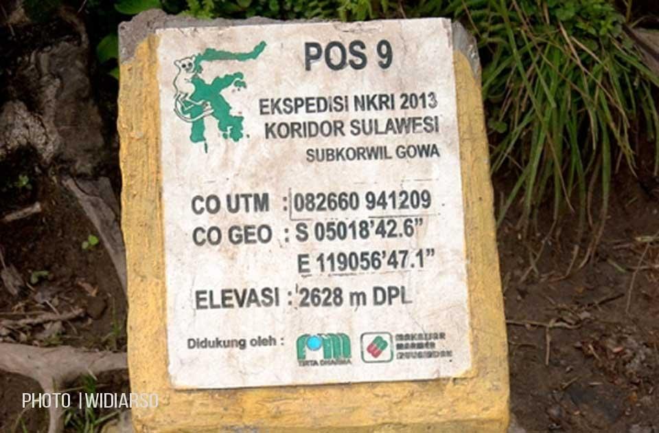 Patok Pos 9 Gunung Bawakaraeng
