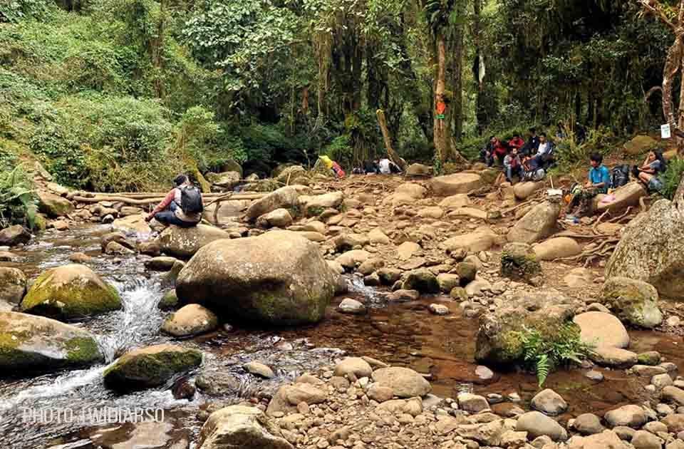 Sumber air 4 gunung Bawakaraeng